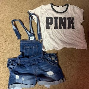 Short All's & Pink outfit Size L